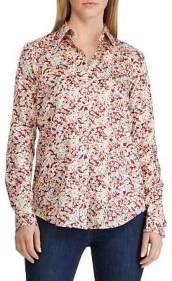 Lauren Ralph Lauren Petite Relaxed-Fit Floral Cotton Sateen Button-Down Shirt