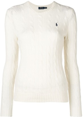 Polo Ralph Lauren Embroidered Logo Cable-Knit Jumper
