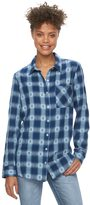 Mudd Juniors' Flannel Button-Down Shirt