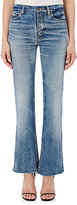 Saint Laurent Women's High-Waist Flared Crop Jeans