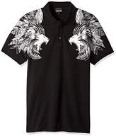 Just Cavalli Men's JC Lion Printed Polo