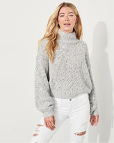 Hollister Shine Chunky Turtleneck Sweater