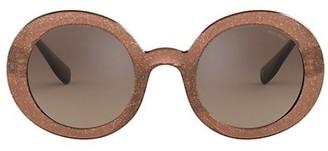 Miu Miu 48MM Round Sunglasses