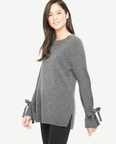 Ann Taylor Wool Cashmere Tie Sleeve Sweater