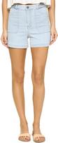 Alice + Olivia Carsen High Waisted Braided Shorts