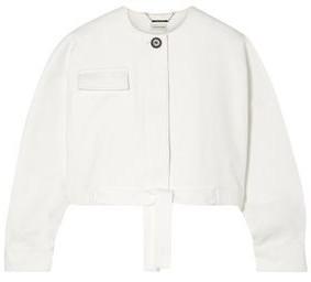 By Malene Birger Cropped Cotton-blend Twill Jacket