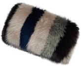 Marni Striped Fox Fur Banded Stole