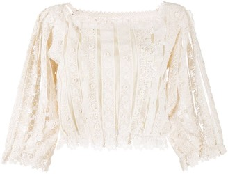 RED Valentino Cropped Lace Top