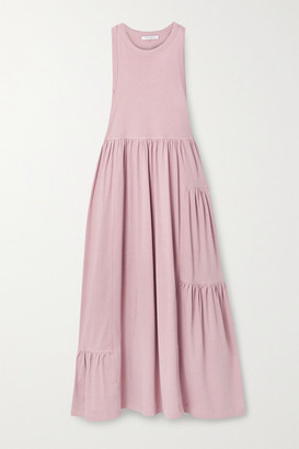 Ninety Percent Mono Gathered Organic Cotton-jersey Maxi Dress - Antique rose