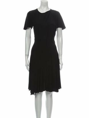 Isabel Marant Crew Neck Knee-Length Dress Black