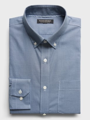 Banana Republic Slim-Fit Non-Iron Dress Shirt with Button-Down Collar