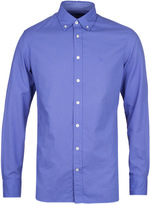 Hackett Brompton Blue Dyed Slim Fit Oxford Shirt
