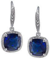 Carolee Uptown Recolor Blue Cushion Drop Earrings