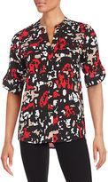 Calvin Klein Printed Button-Front Shirt
