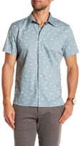 Perry Ellis Paisley Short Sleeve Slim Fit Shirt