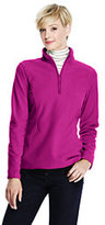 Lands' End Women's Petite 100 Everyday Fleece Half-zip-Soft Magenta