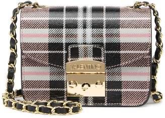 Mario Valentino Valentino By Bijou Tartan Plaid Leather Crossbody Bag