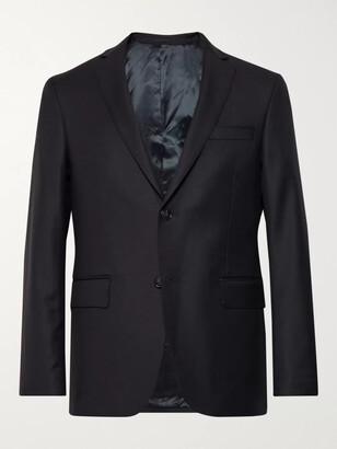 Officine Generale Blue Slim-Fit Wool Blazer