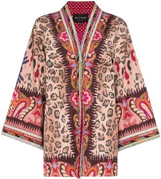 Etro Embroidered Trim Kimono