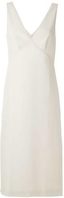 Egrey Side Slits Mid-Lenght Dress
