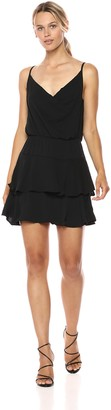BCBGeneration Women's Cowl Neck Ruffle Dress