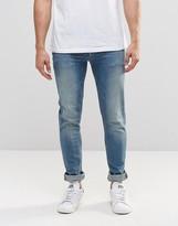 Asos Skinny Jeans In 12.5oz In Light Blue Wash