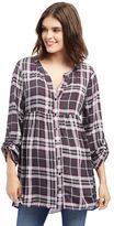 Maternity Oh Baby by MotherhoodTM Plaid Babydoll Top