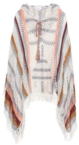 Anna Kosturova Sahara crocheted cotton poncho