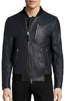 Mackage Leather Bomber Jacket