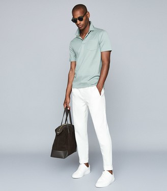 Reiss Elliot - Mercerised Egyptian Cotton Polo in Seafoam
