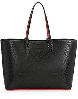 Christian Louboutin Women's Cabata Leopard-Embossed Leather Tote