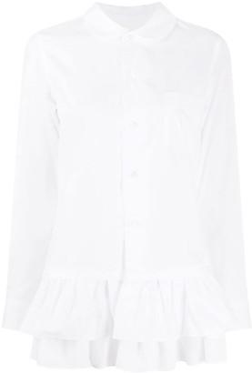 COMME DES GARÇONS GIRL Ruffled Hem Cotton Shirt