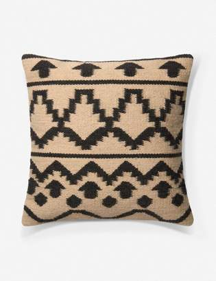 ED Ellen Degeneres Lulu And GeorgiaLulu & Georgia Rennes Pillow, Ivory and Black, Crafted by Loloi