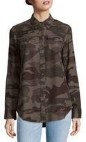 True Religion Georgia Long Sleeve Cotton Plaid Shirt