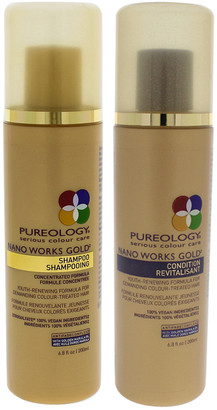 Pureology 2Pc Nano Works Gold Shampoo & Conditioner Kit