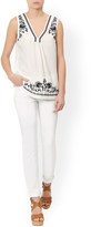 Monsoon Whitney Embroidered Top
