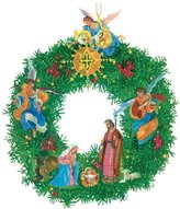 Caspari Nativity Wreath Advent Calendar