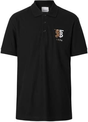 Burberry Contrast Logo Cotton Polo Shirt