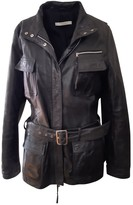 Marella Black Leather Leather Jacket for Women