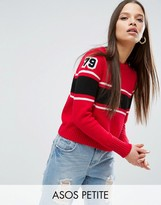 Asos Sweater with Stripes and Badges