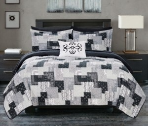 Chic Home Eliana 8 Piece Queen Bed in a Bag Quilt Set Bedding