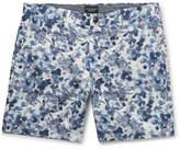 Club Monaco Baxter Floral-Print Linen and Cotton-Blend Twill Shorts