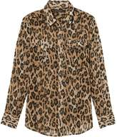 Banana Republic Petite Dillon Classic-Fit Animal Print Utility Shirt