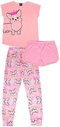 Jellifish Girls 4-12 Jelli Fish 3-piece Pajama Set