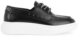 Alexander McQueen Men's Platform Leather Boat Shoes