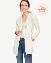 Ann Taylor Wool Cashmere Sweater Jacket