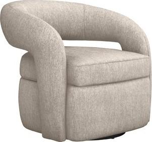 Interlude Targa Swivel Barrel Chair Fabric: Bungalow