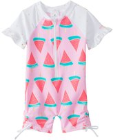 Snapper Rock Girls' Watermelon S/S One Piece Sunsuit (0mos2T) - 8155094