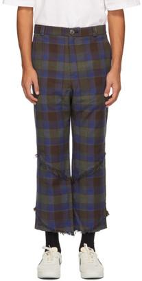 NAMESAKE Brown Plaid Spiral Fringe Carter Trousers