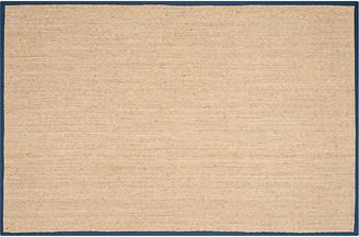 One Kings Lane Cobain Sea-Grass Rug - Natural/Blue - 9'x12'
